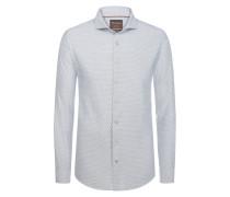 Baumwollhemd mit Haifischkragen, Modern-Fit von Tom Rusborg Premium in Blau für Herren