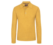 Pullover mit Polokragen aus 100% Kaschmir von Tom Rusborg Premium in Gelb für Herren