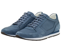 Hochwertiger Leder-Sneaker, Breeze Runn von Boss in Blau für Herren