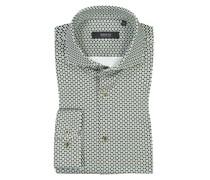 Jerseyhemd mit Muster  Oliv
