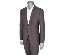 Schurwoll-Anzug mit Karo-Muster von Roy Robson in Braun für Herren