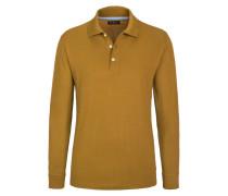 Polo-Kragen Sweatshirt, Regular Fit von Tom Rusborg in Gelb für Herren