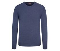 Pullover aus reiner Merino-Wolle  Marine