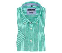 Kurzarmhemd aus Leinen von Tom Rusborg in Gruen für Herren