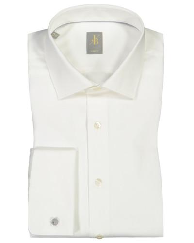 Festliches Hemd, Slim Fit in Offwhite