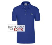 Poloshirt in Waffel-Pique Struktur, Slim Fit von Lacoste in Royal für Herren