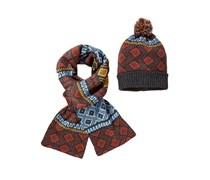 Mütze & Schal im Set von Tom Rusborg in Orange für Herren