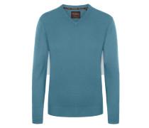 V-Neck Pullover aus 100% Kaschmir von Tom Rusborg Premium in Tuerkis für Herren