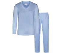 Schlafanzug mit NOVILA-Bund® von Novila in Hellblau für Herren