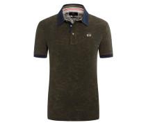 Poloshirt mit Palmenmuster, Slim Fit von La Martina in Oliv für Herren