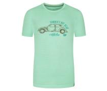 T-Shirt mit Print in Mint