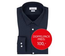 Businesshemd, gepunktet von Calvin Klein in Schwarz für Herren