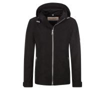 Wasserabweisende Jacke mit packbarer Kapuze von Burberry in Schwarz für Herren