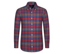 Kariertes Flanellhemd von Tom Rusborg in Rot für Herren