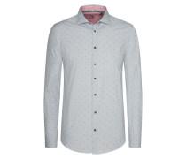 Modisches Freizeithemd in Pepita-Struktur von Tom in Grau für Herren