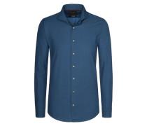 Modern-Fit Freizeithemd aus 100% Baumwolle von Tom Rusborg Premium in Marine für Herren