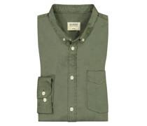 Hemd mit Brusttasche  Oliv