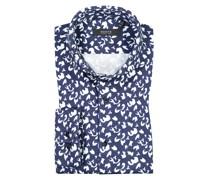 Jerseyhemd mit Muster  Marine