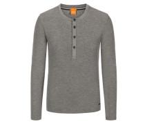 Slim-Fit Longsleeve mit Waffeltextur von Boss Orange in Grau für Herren