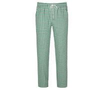 Karierte Pyjamahose von Novila in Gruen für Herren