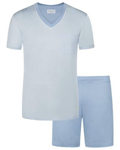 Schlafanzug, Sir, kurz in Hellblau