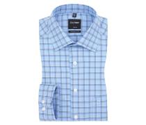 Luxor modern fit Hemd, modische Struktur von Olymp in Blau für Herren
