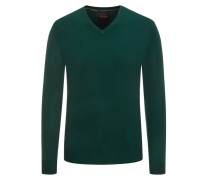 Pullover, V-Neck, reinem Kaschmir  Gruen