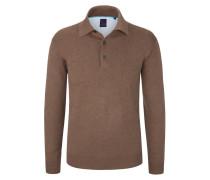Pullover mit Polokragen von Tom Rusborg in Braun für Herren