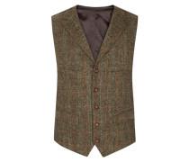 Hochwertige Weste aus 100% Schurwolle, Harris Tweed von Tom Rusborg in Hellgruen für Herren