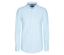 Freizeithemd, gestreift von Tom Rusborg in Hellblau für Herren