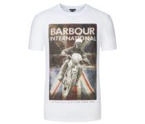 T-Shirt mit markantem Frontprint von Barbour International in Weiss für Herren