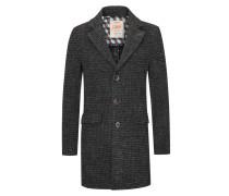Hahnentritt-Mantel im Wollmix von Bob in Grau für Herren