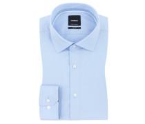 Schmales Businesshemd mit gemustertem Ausputz von Strellson in Hellblau für Herren