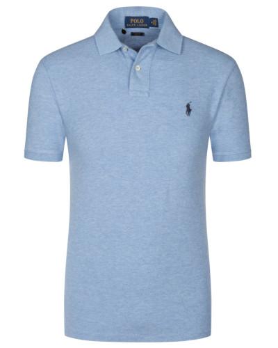 Poloshirt, Slim Fit in Hellblau