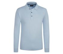 Polo-Kragen Sweatshirt, Regular Fit von Tom Rusborg in Hellblau für Herren