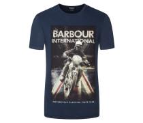 T-Shirt mit markantem Frontprint von Barbour International in Marine für Herren
