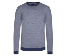 Pullover im Baumwollmix, dezentes Muster von Tom Rusborg in Blau für Herren