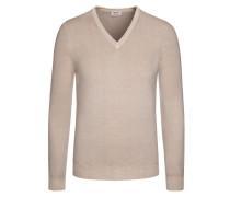 Weicher Pullover aus 100% Merinowolle von Heritage in Beige für Herren