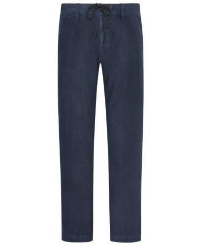 Leinenhose, Tapered Fit in Marine