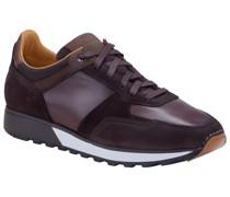 Sneaker aus Leder  Dunkel