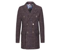 Doppelreihiger Mantel, Überkaro von Bob in Braun für Herren