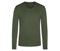 Modischer O-Neck Pullover von Tom Made In Heaven in Oliv für Herren
