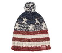 Hochwertige Mütze mit Bommel von Denim & Supply Ralph Lauren in Rot für Herren