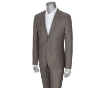 Hochwertiger Flanellanzug mit Pepita-Muster von Tom Rusborg Premium in Beige für Herren