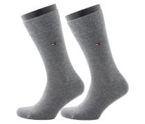 Doppelpack - Socken von Tommy Hilfiger in Grau für Herren