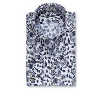 Leinenhemd mit Paisley-Motiv, Slimline