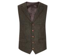 Hochwertige Weste aus 100% Schurwolle, Harris Tweed von Tom Rusborg in Dunkelgruen für Herren