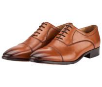 Glattleder Businessschuh, Oxford von Tom Rusborg in Cognac für Herren