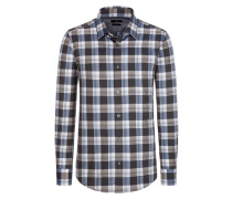 Kombistarkes Freizeithemd mit Karo-Muster von Boss in Grau für Herren