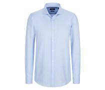 Unifarbenes Slim-Fit Freizeithemd, Ridley_4 von Boss in Blau für Herren